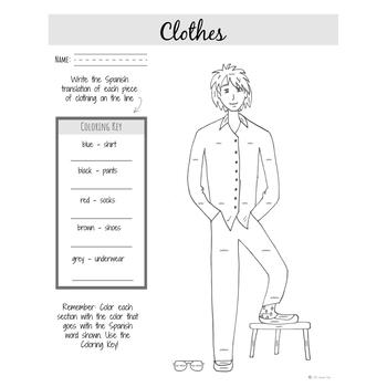 Spanish: Clothes   Spanish Vocabulary