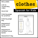 Spanish: Clothes | Spanish Vocabulary