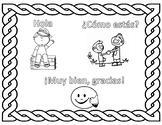 Elementary Spanish Coloring Worksheet - Greetings