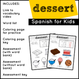Spanish Food: Desserts | Spanish Vocabulary