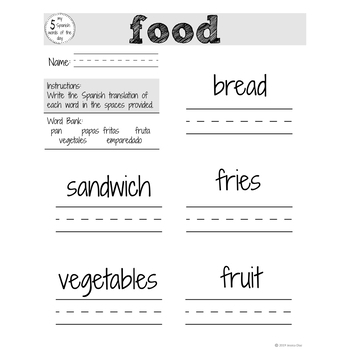 Spanish Food | Spanish Vocabulary