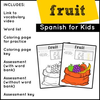 Spanish Food: Fruits | Spanish Vocabulary
