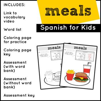 Spanish Food: Meals | Spanish Vocabulary