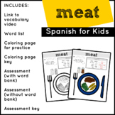 Spanish Food: Meat | Spanish Vocabulary