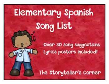 Elementary Spanish Songs - List of Suggestions