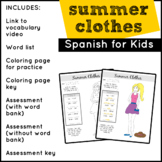 Elementary Spanish | Summer Clothes in Spanish
