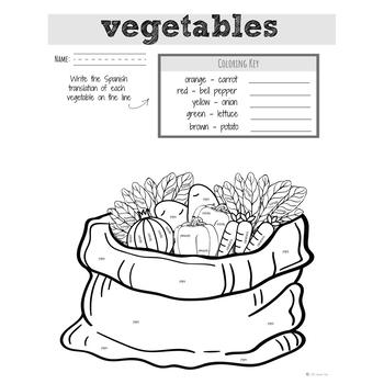 Spanish Food: Vegetables | Spanish Vocabulary