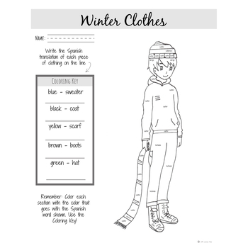 Elementary Spanish | Winter Clothing in Spanish