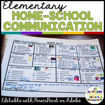 Parent Communication Notes for Elementary Special Education: Editable Included
