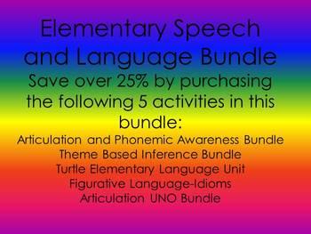 Elementary Speech and Language Bundle
