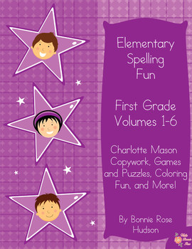 Elementary Spelling Fun: First Grade, Volumes 1-6