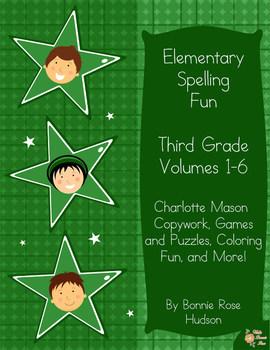 Elementary Spelling Fun: Third Grade, Volumes 1-6