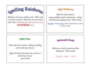 Elementary Spelling Task Cards