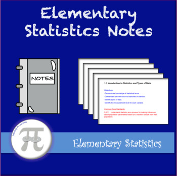 Elementary Statistics Lecture Notes and Notebooks - Full Year Bundle