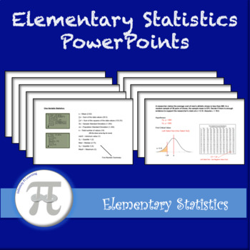 Elementary Statistics PowerPoints - Full Year Bundle