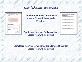 Elementary Statistics Unit Four Lesson Plan Bundle