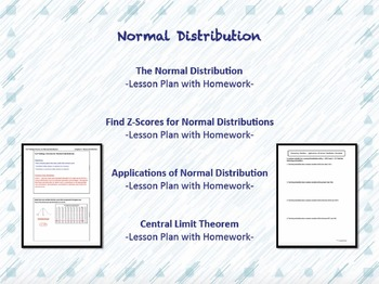 Elementary Statistics Unit Three Lesson Plan Bundle