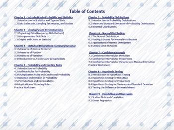 Elementary Statistics Worksheets - Full Year Bundle