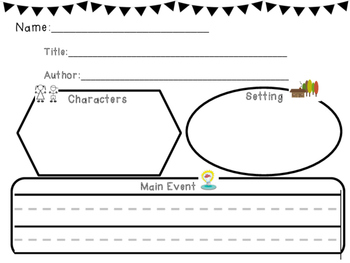 Elementary Story Map Graphic Organizer
