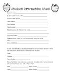 Elementary Student Information Sheet