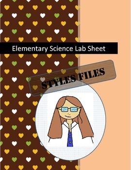 Elementary Student Lab Sheet