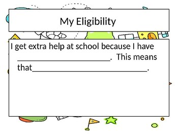 Elementary Student Led IEP Template