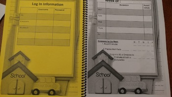 Elementary Student Planner