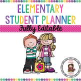 Elementary Student Planner {Fully Editable}