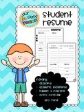 Elementary Student Resume