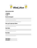 Elementary Student Think Sheet