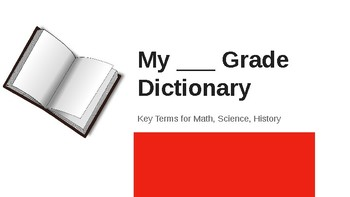 Elementary Student made Dictionary