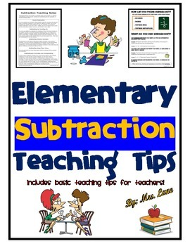 Elementary Subtraction Teaching Tips