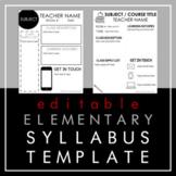 Elementary Syllabus (EDITABLE) 4 Versions