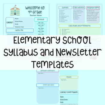 Elementary Syllabus and Newsletter Template