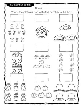 Elementary THANKSGIVING Worksheet Variety Pack