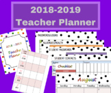 Elementary Teacher Planner July 2018 - June 2019 Lesson Planning Book (In Color)