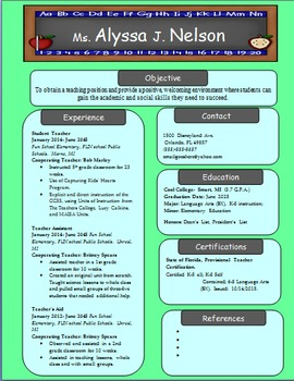 pre primary school teacher resume sample - revised elementary teacher resume by fearless in 5th tpt