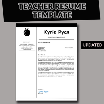 Elementary Teacher Resume Template Teaching Cv Template