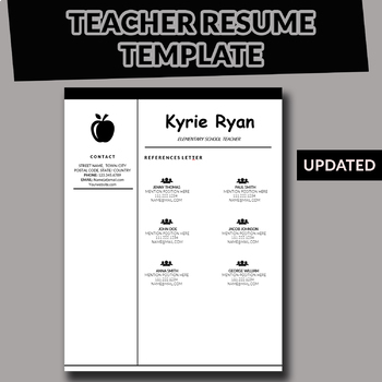 teacher resume template teaching resume powerpoint and. Black Bedroom Furniture Sets. Home Design Ideas
