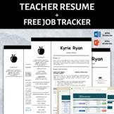 Elementary Teacher Resume Template, Teaching CV Template,