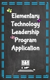 Student Application for Elementary Technology Leadership Program