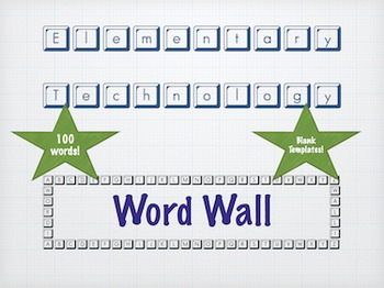 Elementary Technology Word Wall