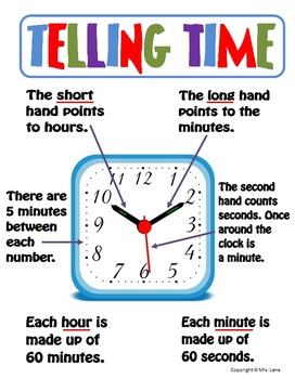 Elementary Telling Time Posters (Includes 14 Different Posters!)