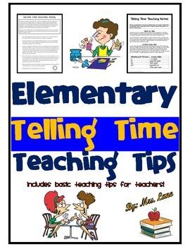 Elementary Telling Time Teaching Tips