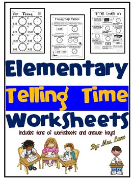 Elementary Telling Time Worksheets