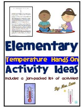 Elementary Temperature Hands-On Activity Ideas