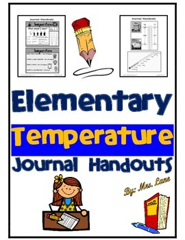 Elementary Temperature Journal Handouts