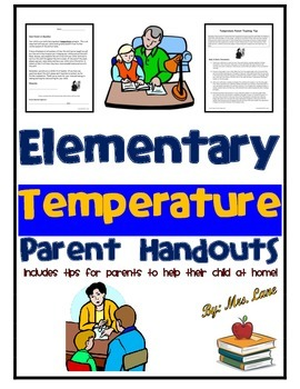 Elementary Temperature Parent Handouts (Help At Home)