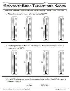 Elementary Temperature Reviews and Assessments