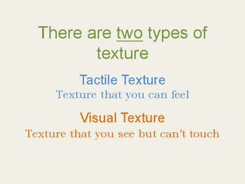 Elementary Texture Presentation